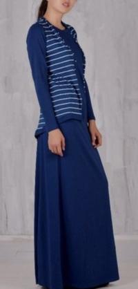 Костюм с жилеткой синий