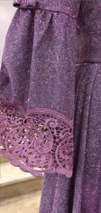 Платье голограмма фиолет