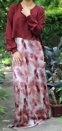 Платье обманка бордо