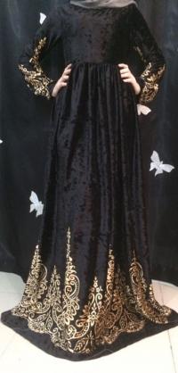Платье велюр черное с 42 по 58разм
