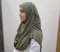 Готовый хиджаб шифон с жемчугом