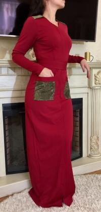 Платье Миланочка красное