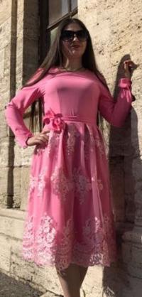 Платье короткое розовое