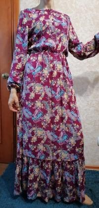 Платье Турция штапель огурцы