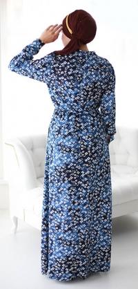 """М576 Платье """"Стиль"""" синее"""