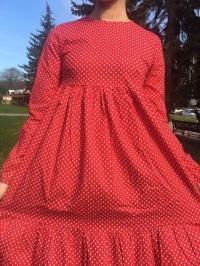 Платье хлопок красное
