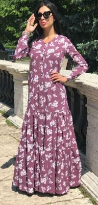 Платье-халат хлопок стретч