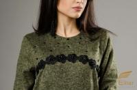 Платье Бальбоа ангора зеленое