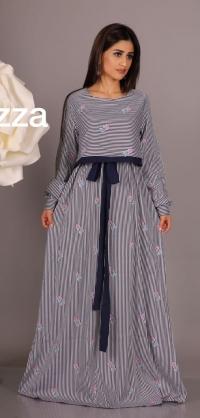 Платье джинса с вышивкой