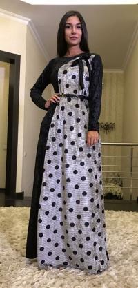 Платье горох велюр, цвета разные