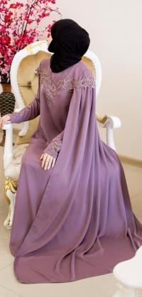Платье-кейп розовое