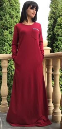 Платье стретч красное