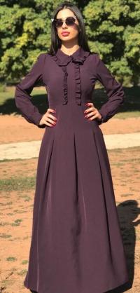 Платье с рюшами ФИОЛЕТ