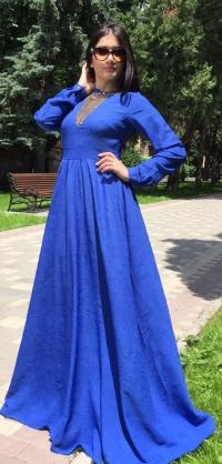 Платье Розали синее