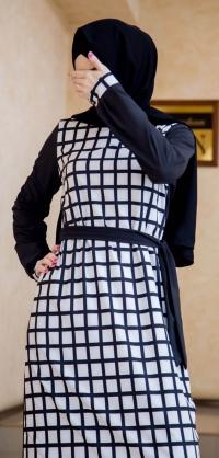 Платье креп клетка