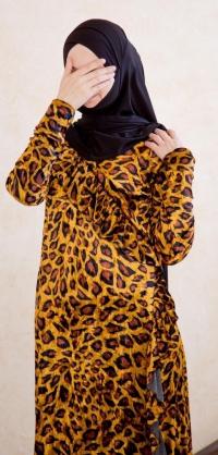 Платье с запахом велюр леопард