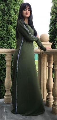 Платье стретч хаки