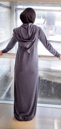 Спортивное платье мелиса серое