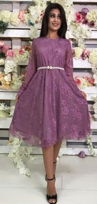 Платье гипюр фиолет