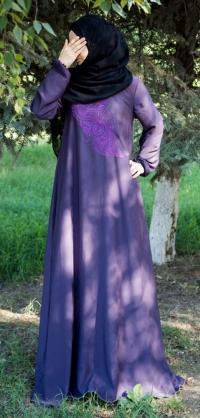 Платье абайное с вышивкой, цвета разные