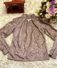 Блузка гипюр шоколад