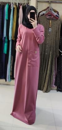 Платье теплое розовое