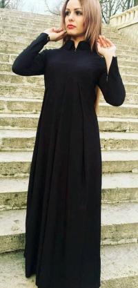 Платье штапель черное