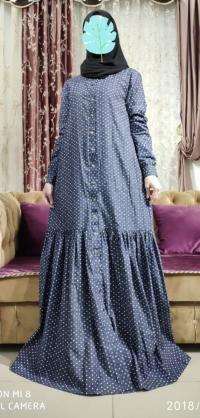 Платье-халат джинса
