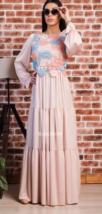 Платье с хлопковым кружевом, шёлк