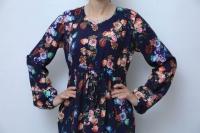 Платье кулиска Волан букет из роз
