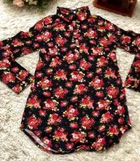 Рубашка хлопок с цветами