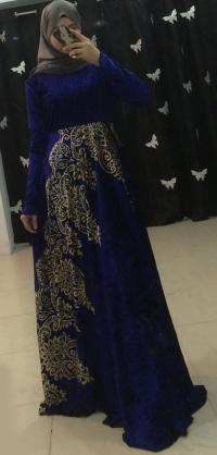 Платье велюр синее с 42 по 58разм.