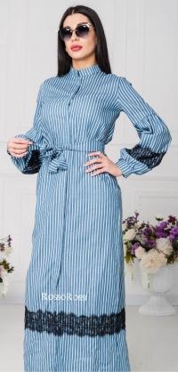 Платье летняя джинса с кружевом