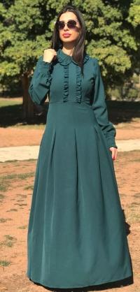 Платье с рюшами БИРЮЗА