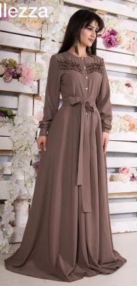 платье-халат цвета разные, разм: 42-54