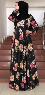 Платье Лен темное