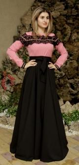 Платье костюмка розовое