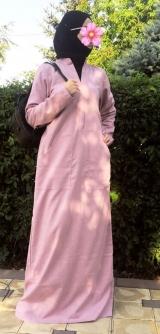Платье лен розовое