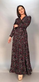 Платье на запах с завязками