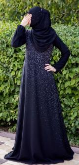 Платье абайное Распыление