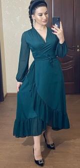 Платье Нежность изумруд