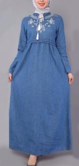 Платье джинсовое Турция светлое