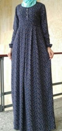 Платье Роза кантик синий