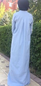 Платье лен голубое