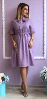 Платье креп-шифон сирень