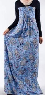 Платье Венгерка голубое