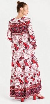 Платье Турция штапель красное