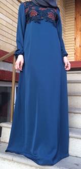 Платье абайное цветы 40-58