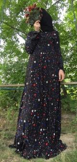 Платье креп-шифон звездочки