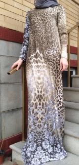 Платье леопард теплый трикотаж. Разм: 40-58